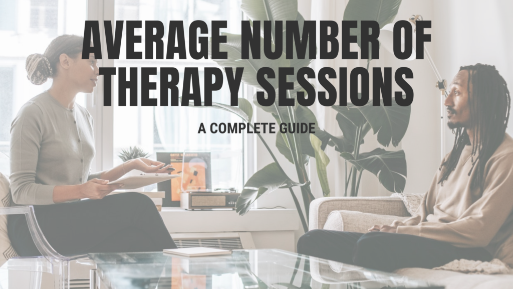 Average number of therapy sessions